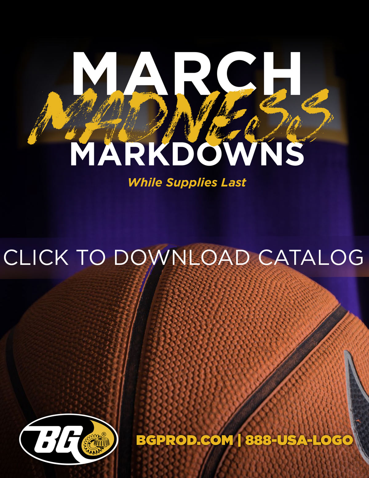 March Madness Sale - Bg Products Merch