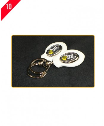 Double Sided Dome Key Tag with Gift Box