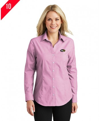 A2-0112 Ladies Crosshatch Easy Care Shirt