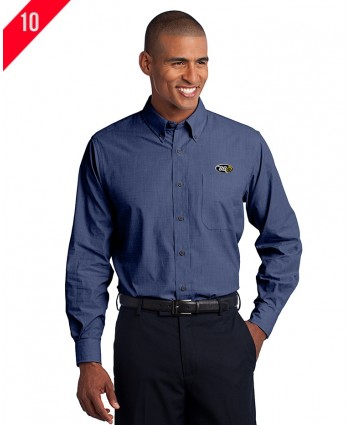 A2-0111 Crosshatch Easy Care Shirt - Regular and Tall Sizes