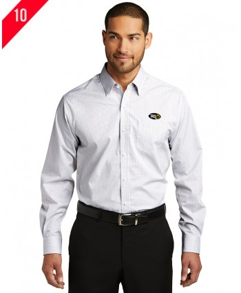 A2-0113 Micro Tattersall Easy Care Shirt